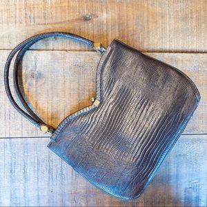 vintage brown heart shaped bag